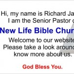 Welcome To New Life Bible Church