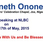 Rev. Kenneth Ononeze Is Our Guest Speaker This Sunday